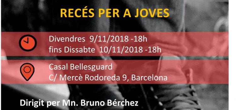 <h2> Recés per a joves | 9-10 novembre 2018 | Mn. Bruno Bérchez </h2> <h4>Recés interparroquial </h4>