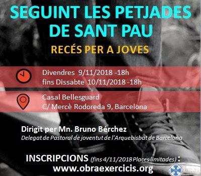 <h2> Crònica del recés – Seguint les petjades de Sant Pau </h2> <h4>Mn. Bruno Bérchez - Recés per a joves </h4>